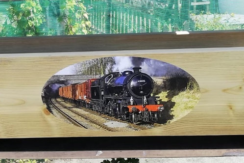 Long Wooden trough - Train
