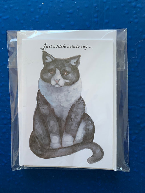 Notelets - Cat (pack of 5)