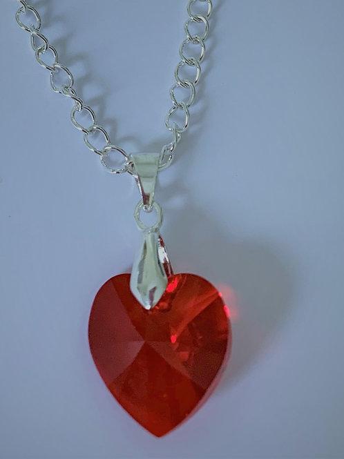 July pendant necklace - Swarovski® - Light Siam