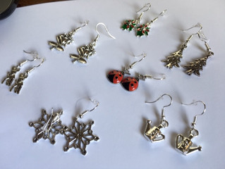 Don't forget that we sell earrings that are made on site by our staff.
