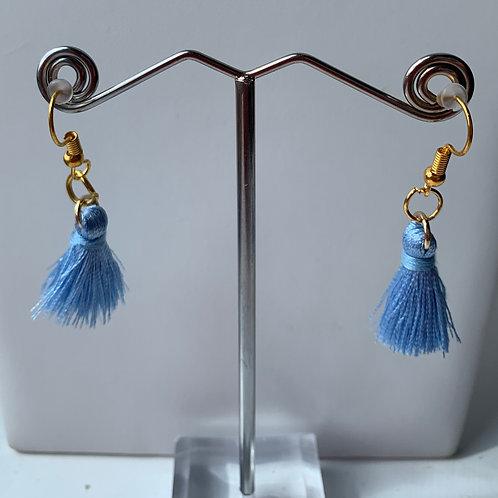 Tassel earrings - Baby Blue