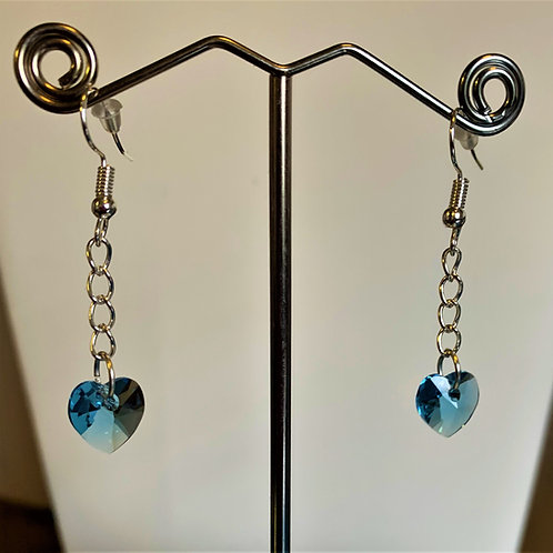 March earrings - Swarovski® - Aquamarine