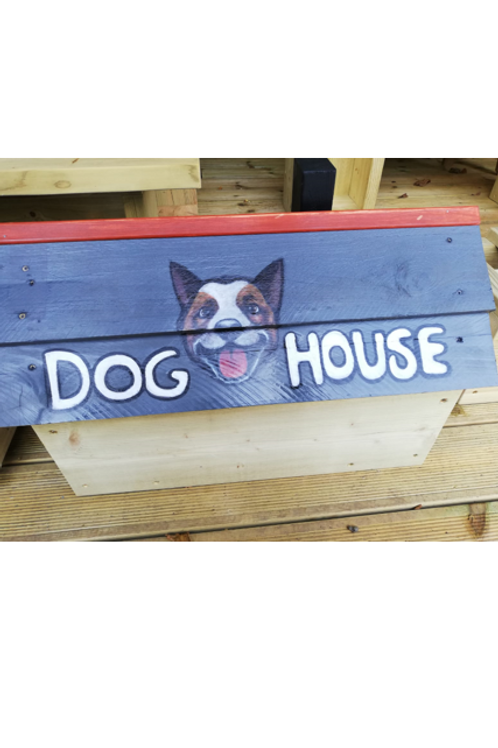 Dog house food storage container