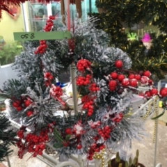 Artificial Christmas wreaths in stock