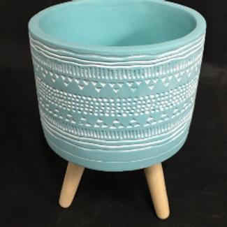 Mayan Pot Blue 14cm