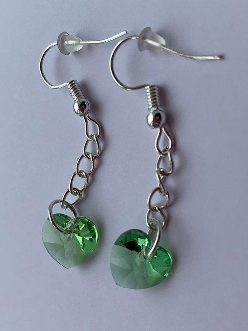August earrings - Swarovski® - Peridot