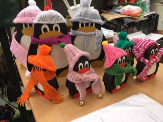 It might be cold outside, but our little penguins are warm and toasty