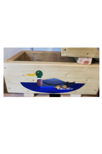 Wooden trough - Duck