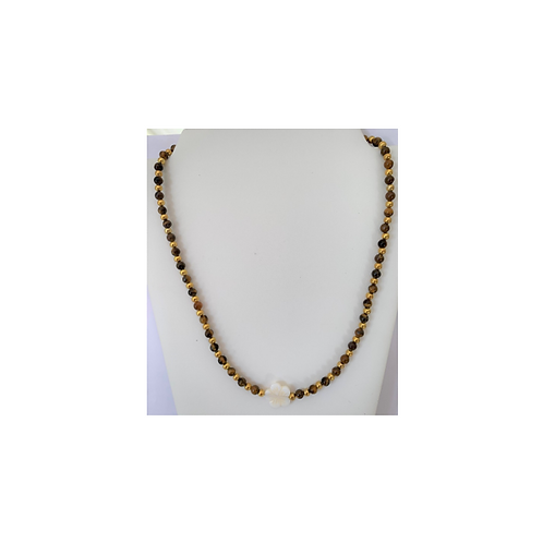 Tigers Eye & Shell necklace