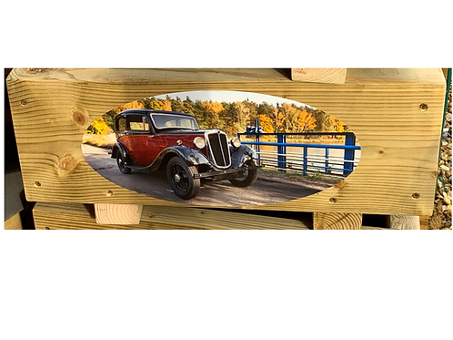 Wooden trough - Red car