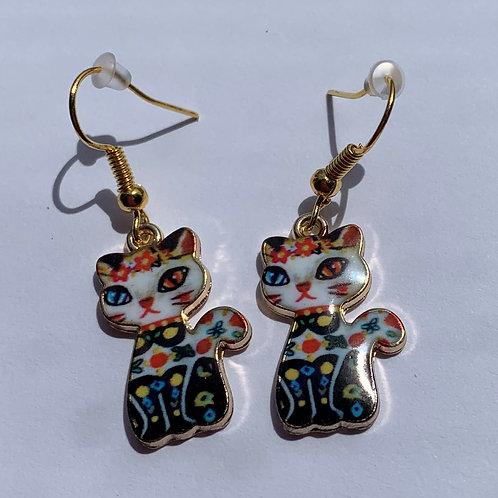 Mexican Cat Earrings