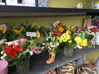 This weeks pretty flower vases