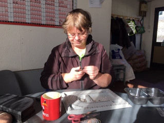 Jenny is busy making lots of lovely jewellery for you to buy