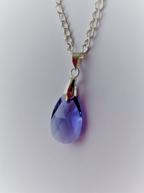 December pendant necklace - Swarovski® - Tanzanite
