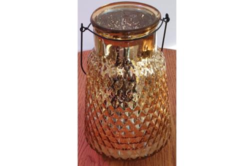 Golden glass vases / tealight holders
