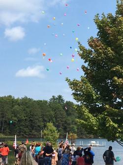 Camp baloon launch