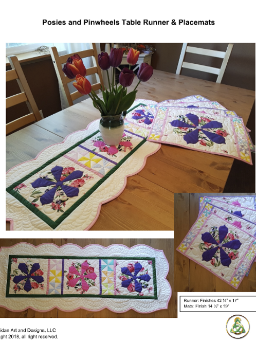 Posies & Pinwheels Table Runner & Placemats - Pattern