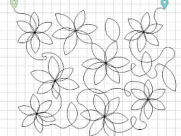 Flower Pano Edge to Edge Quilting