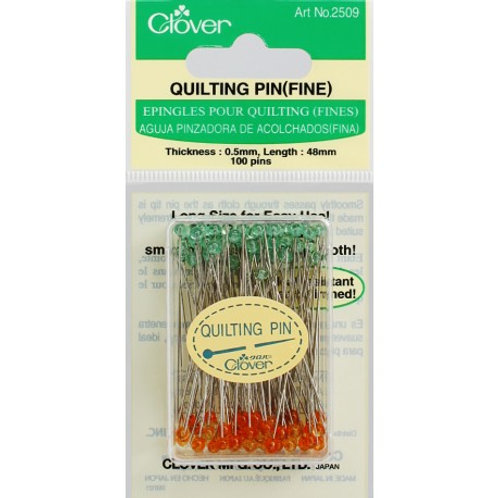 Clover Quilting Pins - 100 count