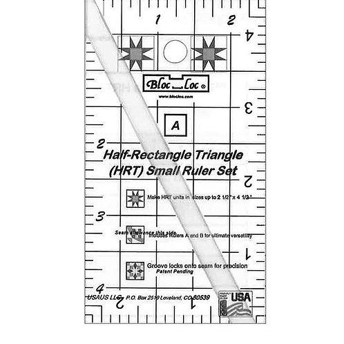 Bloc Loc Half Rectangle Triangle Ruler Set - Small
