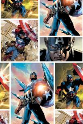 Springs Creative Marvel - CAPTAIN AMERICA DIGITAL PRINT