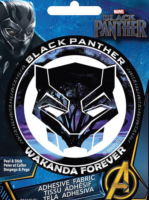 Black Panther Adhesive Fabric Badge