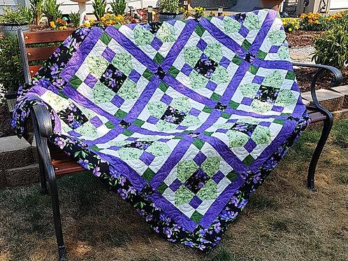 Floral Fantasy - Quatrefoil Pocket Quilt Pattern