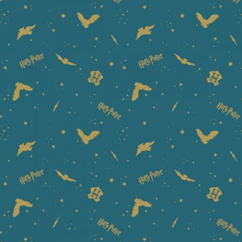 Camelot Wizarding World -TEAL FLANNEL
