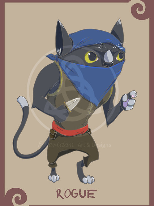 """Rogue Cat Print 5"""" x 7"""""""