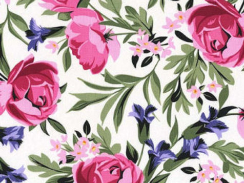 Michael Miller Floral - BED OF ROSES