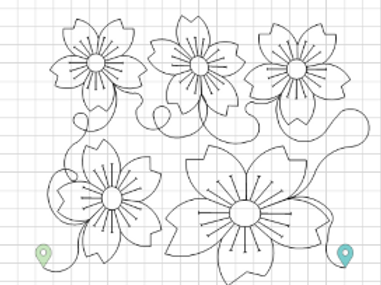 Flower Pano 1 Edge to Edge Quilting