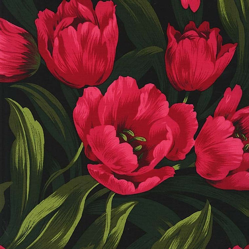 Michael Miller Floral - RUBY TULIPS