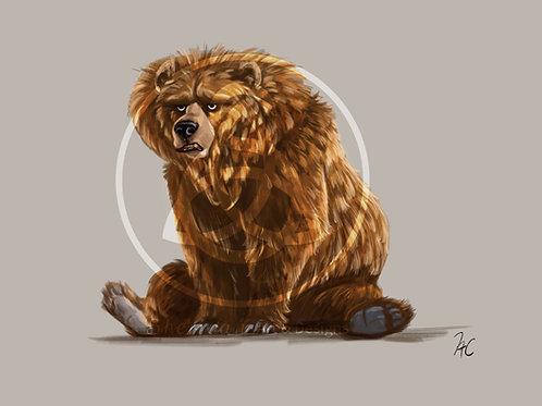 "Grumpy Bear Print 5"" x 7"""