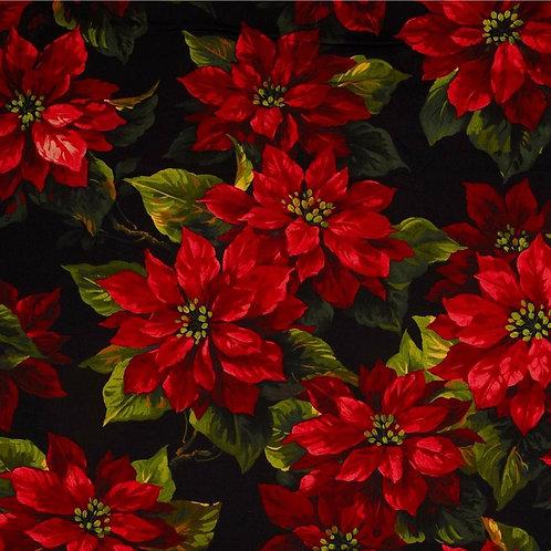 Michael Miller Floral - SCARLET POINSETTIA