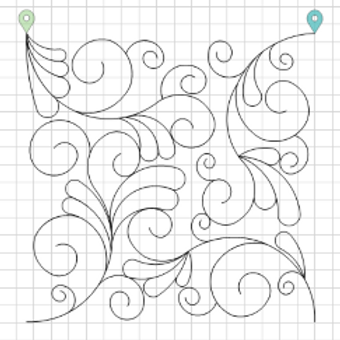 Swirls & Feathers 3 Edge to Edge Quilting