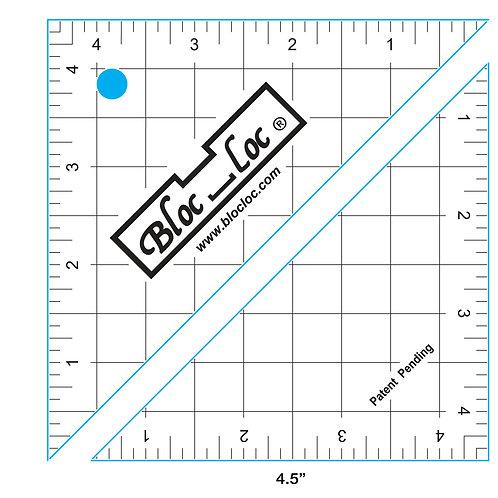 """Bloc Loc Half Square Triangle Ruler - 4.5"""""""