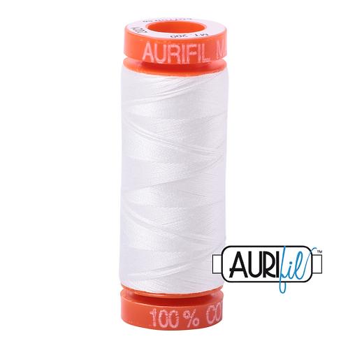 Aurifil Thread 50wt - White SMALL SPOOL