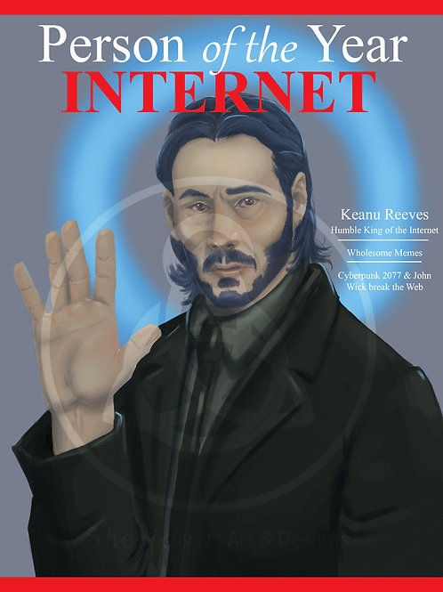 """Keanu Print 8"""" x 10"""""""