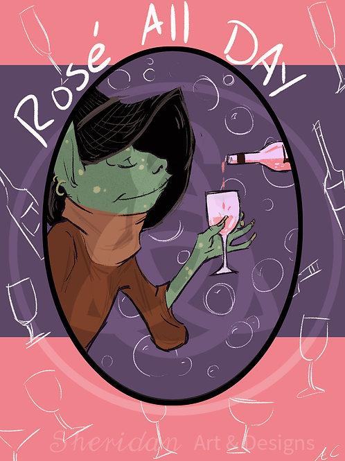 """Rose All Day Goblin Girl Print 5"""" x 7"""""""