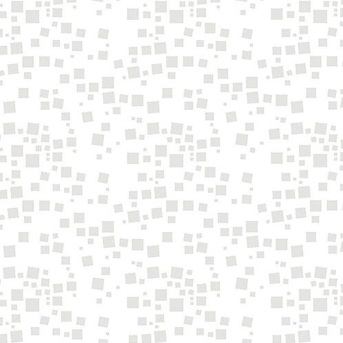 Benartex Midnight Poppies - SMALL GEO SQUARES WHITE