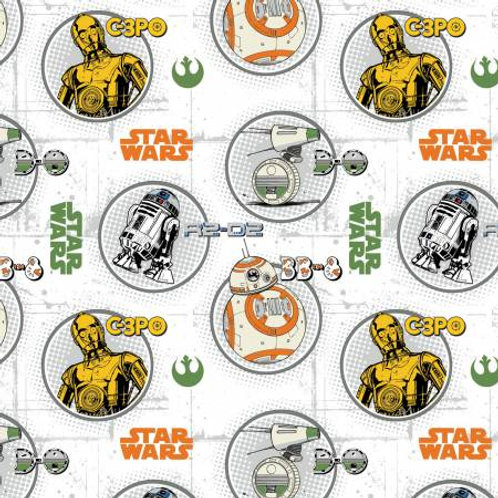 Camelot Star Wars - DROID CIRCLE PORTRAITS WHITE