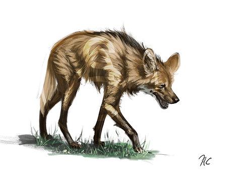 "Maned Wolf Print 5"" x 7"""