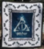 Our latest Harry Potter quilt (pattern o