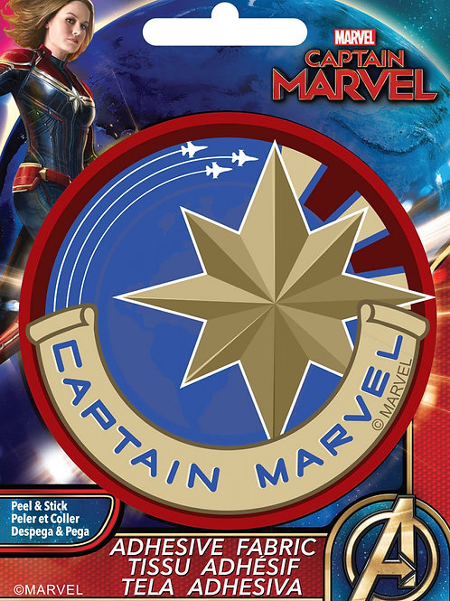 Captain Marvel Adhesive Fabric Badge