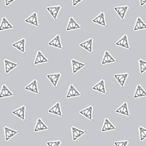 Camelot Wizarding World - HARRY POTTER WATERCOLOR HALLOWS IN GREY