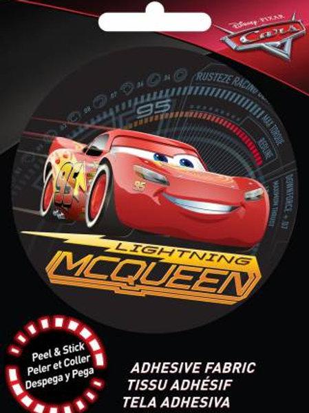 Pixar Cars Lightning McQueen Adhesive Fabric Badge