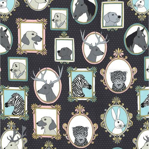 Michael Miller Novelty - LITTLE ANIMAL PORTRAITS