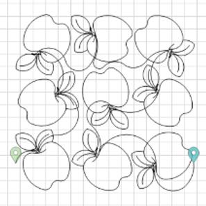 Apples Edge to Edge Quilting