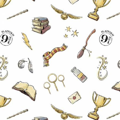 Camelot Wizarding World - HARRY POTTER SYMBOLS WHITE