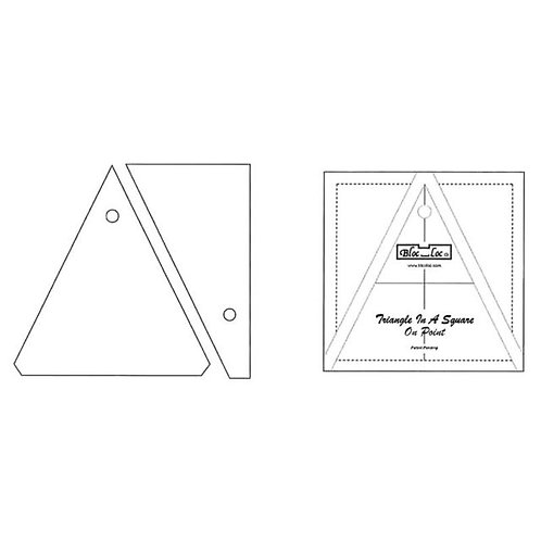 Bloc Loc Triangle in a Square on Point Ruler - 4""
